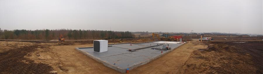 Onsdag: De 38cm polystyren er ved at være på plads!