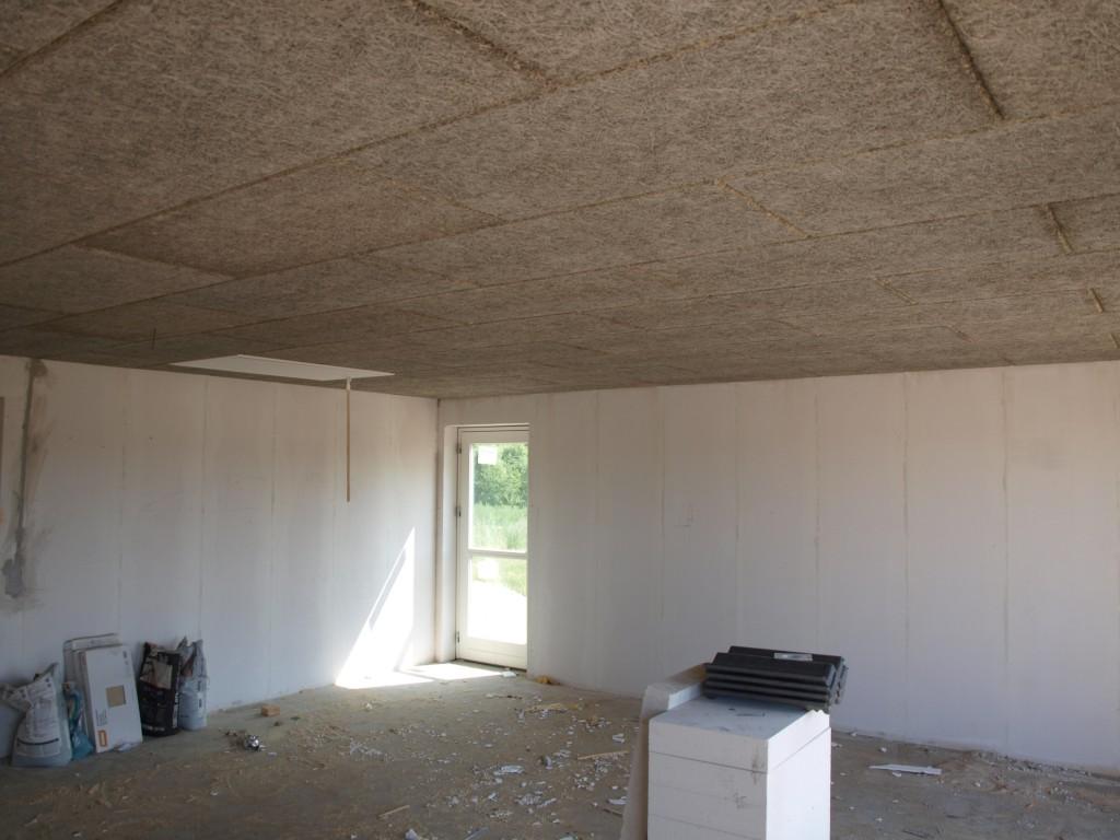 Loftet i garagen er færdigt