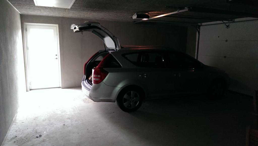 Morfar-mobilen befinder sig godt i garagen